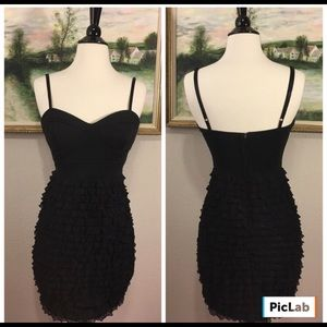 Forever 21 Like New Ruffled Fitted Bodycon Dress